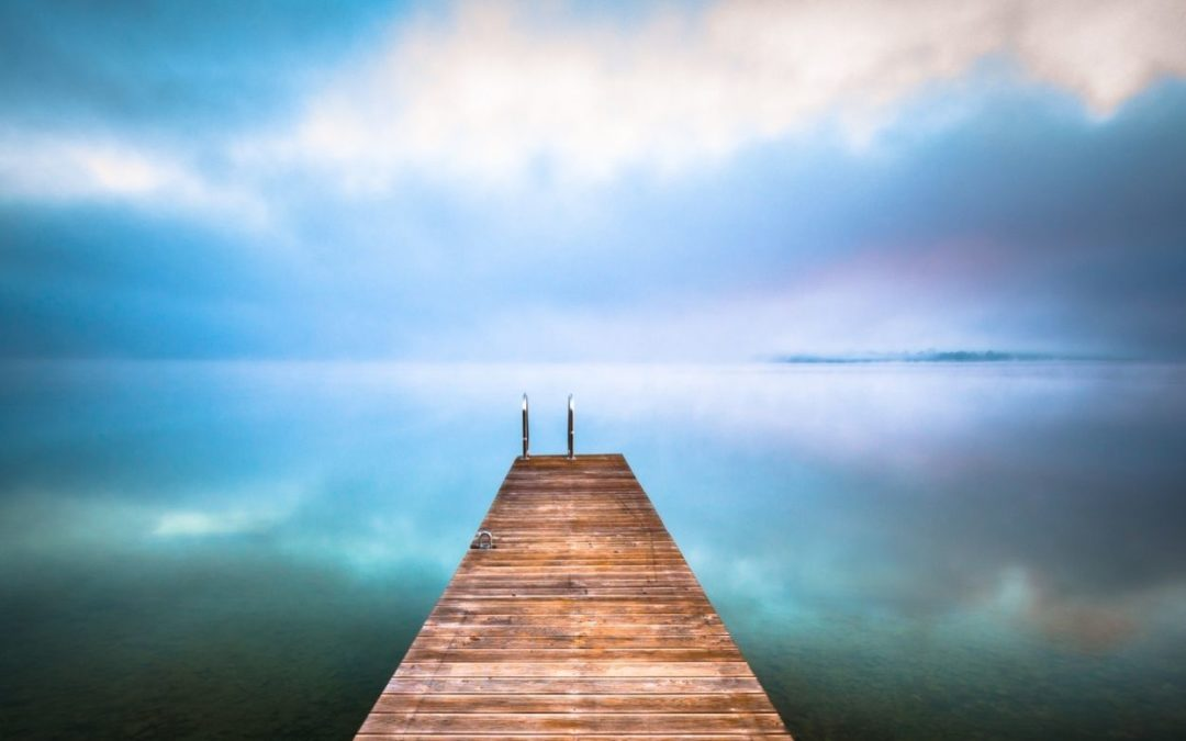 dock going out into water that looks like sky representing what you have achieved