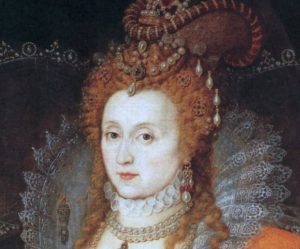 Queen Elizabeth I with a core belief of I'm not safe