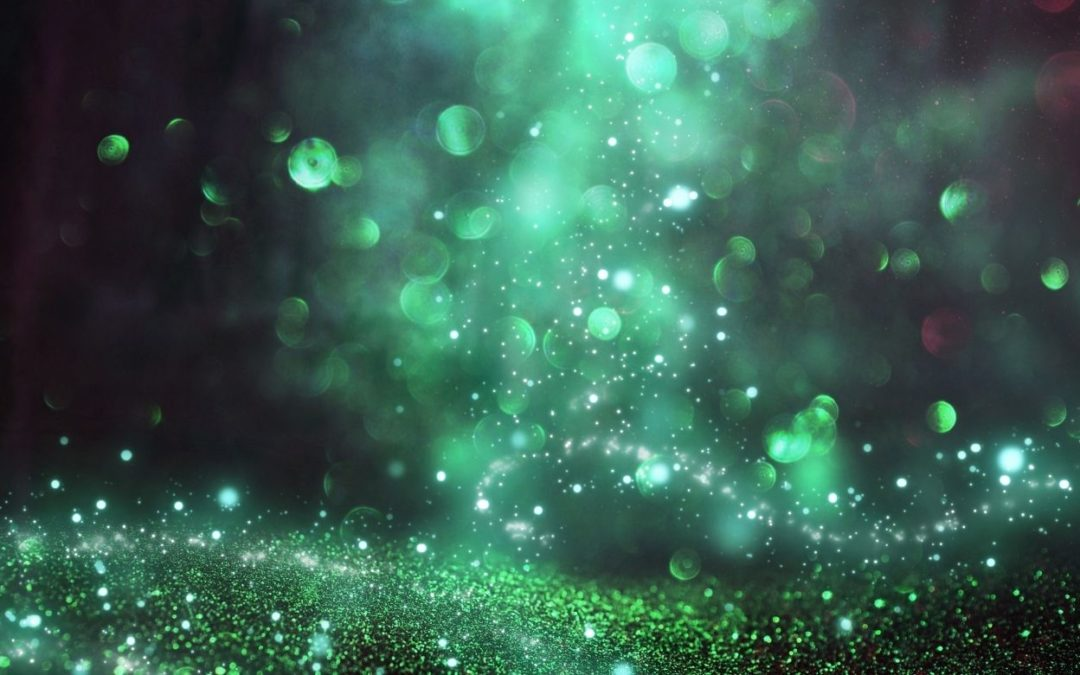 green magical light sparkles representing what you create
