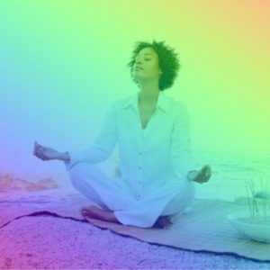 woman meditating to connect with her higher self
